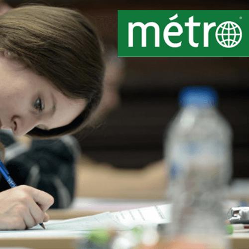 Succès du blocus encadré dans le journal metro | Student Academy | Blocus encadré