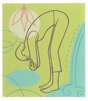 Yoga, flexion avant
