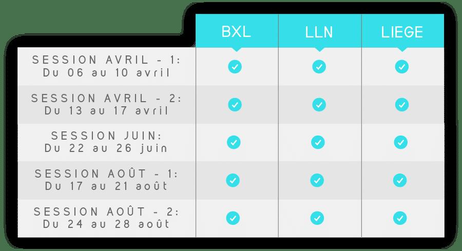 Dates des préparation aux examens d'entrée en polytechique - ingénieur civil 2020 | Bruxelles, Liège et Louvain-la-Neuve